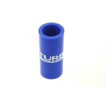 Szilikon összekötő, egyenes TurboWorks Kék 28mm
